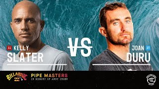 Kelly Slater vs. Joan Duru - Round of 32, Heat 8 - Billabong Pipe Masters 2019