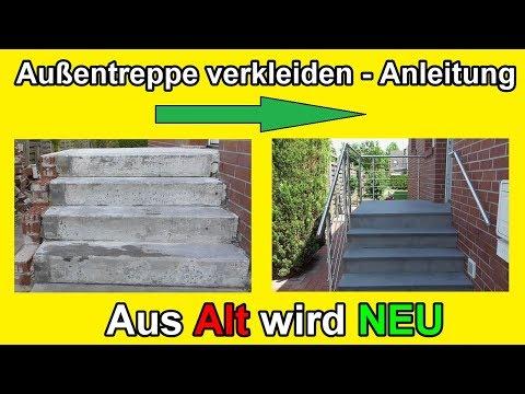 Beliebt Außentreppe sanieren – Stein Treppe mit Naturstein frostfest NT39