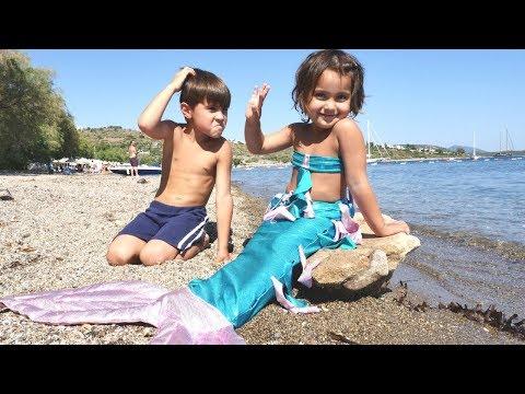 Fındık ailesi.  Denizkızı dönüşüm maceraları. Eğlenceli video