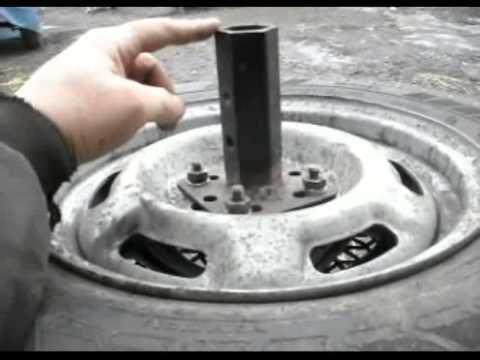Как под культиватор изготовить жигулевские колеса видео