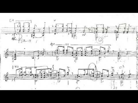 Pierre Lerich - Introduction et Serenade pour Django for Guitar (Score video)