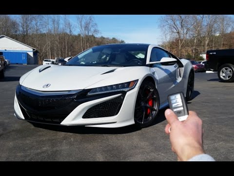 2017 Acura NSX: Start Up, Exhaust, Walkaround and Review