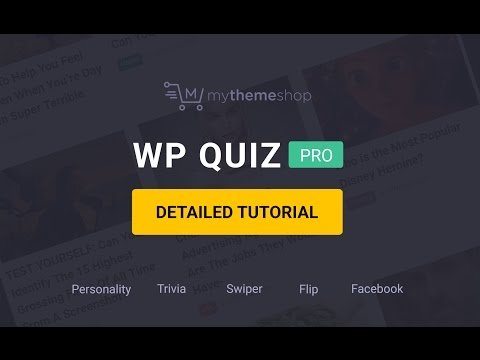How to Setup and use WP Quiz Pro Plugin?