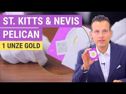 Gold | 1 Unze St. Kitts & Nevis Pelican | Limitierte Goldmünze