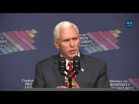 Vice President Mike Pence Delivers Remarks on Prosperity and Security in Central America
