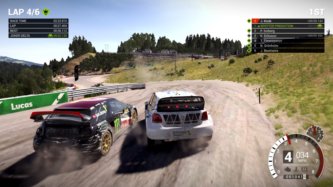 dirt 4 rallycross with simulation handling ps4 pro youtube. Black Bedroom Furniture Sets. Home Design Ideas