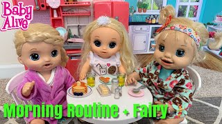 Baby Alive Morning Routine Emma Finds fairy 🧚♀️