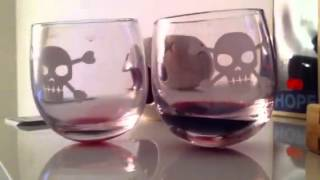 Wine glasses that wobble