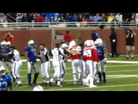 NFL: Lions vs. Patriots - Tempers flare during the 4th Quarter of Thanksgiving Day Game
