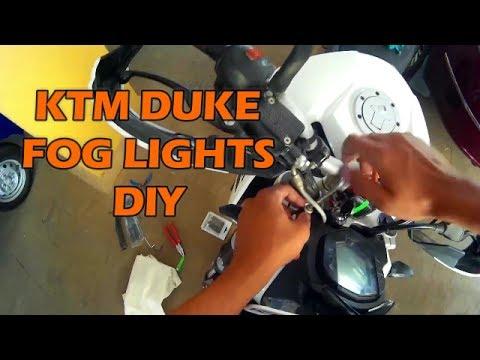 how to install fog lights   ktm duke