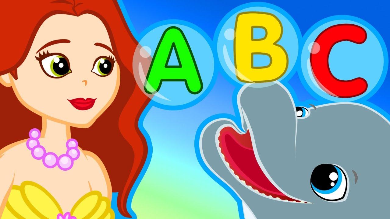 Küçük Deniz Kızı ile ABC Alfabe Türkçe Çizgi film çocuk şarkısı