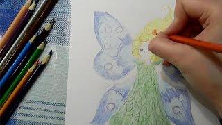 Как нарисовать фею(Узнайте, как новичку научиться рисовать карандашом и красками: http://lessons-free.ru/paintdvd Новый урок по рисованию..., 2015-12-07T16:00:00.000Z)