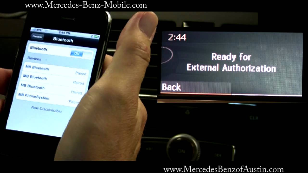 подключение айфон по блютус в мерседесе w212