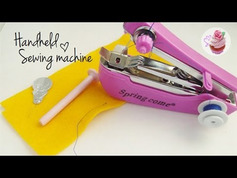 Handheld Sewing Machine Demo ☆ YouTube Impressive Easy Hand Sewing Machine
