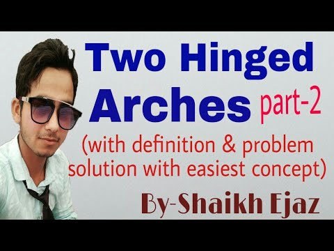 Two Hinged Arches In Hindi | Part-2 | Arches Definition | Parabolic Arches | Structural Analysis