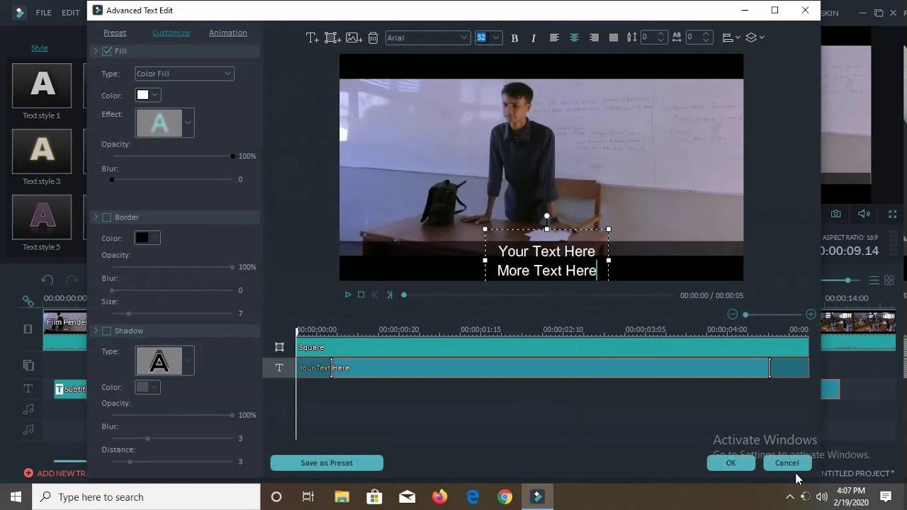 Cara Cepat Membuat Subtitle di Wondershare Filmora ...