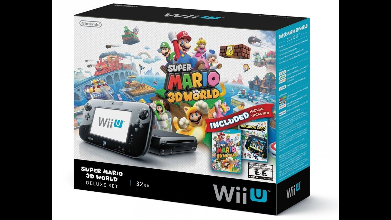 Wii U Super Mario 3D World Bundle Unboxing - YouTube
