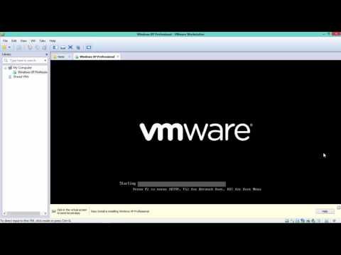 Cara instalasi windows xp di VMware