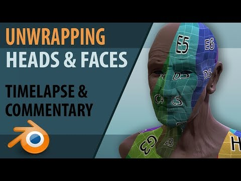 Unwrapping the face   Blender