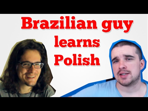 Brazilian guy learns Polish (interview)
