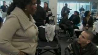 Oprah Winfrey at Walter Reed Medical Center