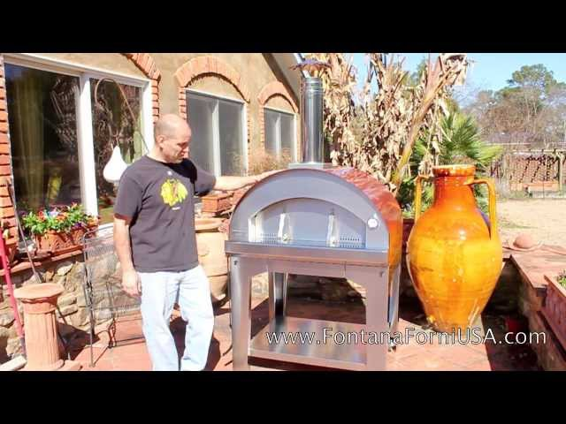 FORNO TOSCANO ASSEMBLY -Mangiafuoco oven Travel Video