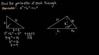 finding perimeter using tнe pythagorean theorem (KristaKingMath)