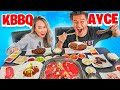 Eating Entire KBBQ Menu w/ GIRLFRIEND! All You Can Eat