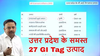 Uttar Pradesh Special Current Affairs 2019/ Complete UP Current Affairs 2019 (All GI Tags UP)