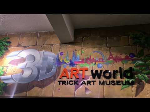 [4K]First 3D Art World Trick Act  Museum Cambodia 2017 - Short Film