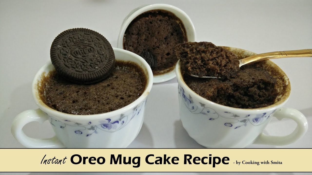 Instant Oreo Mug Cake Recipe in Hindi by Cooking with ...
