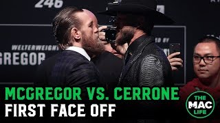 Conor McGregor vs. Donald Cerrone Face Off | UFC 246 Press-Conference