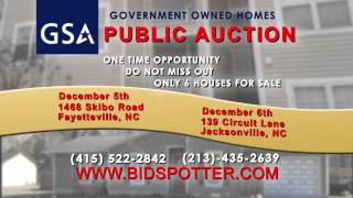 US GENERAL SERVICES ADMINISTRATION   NC Live Auction   15 Sec