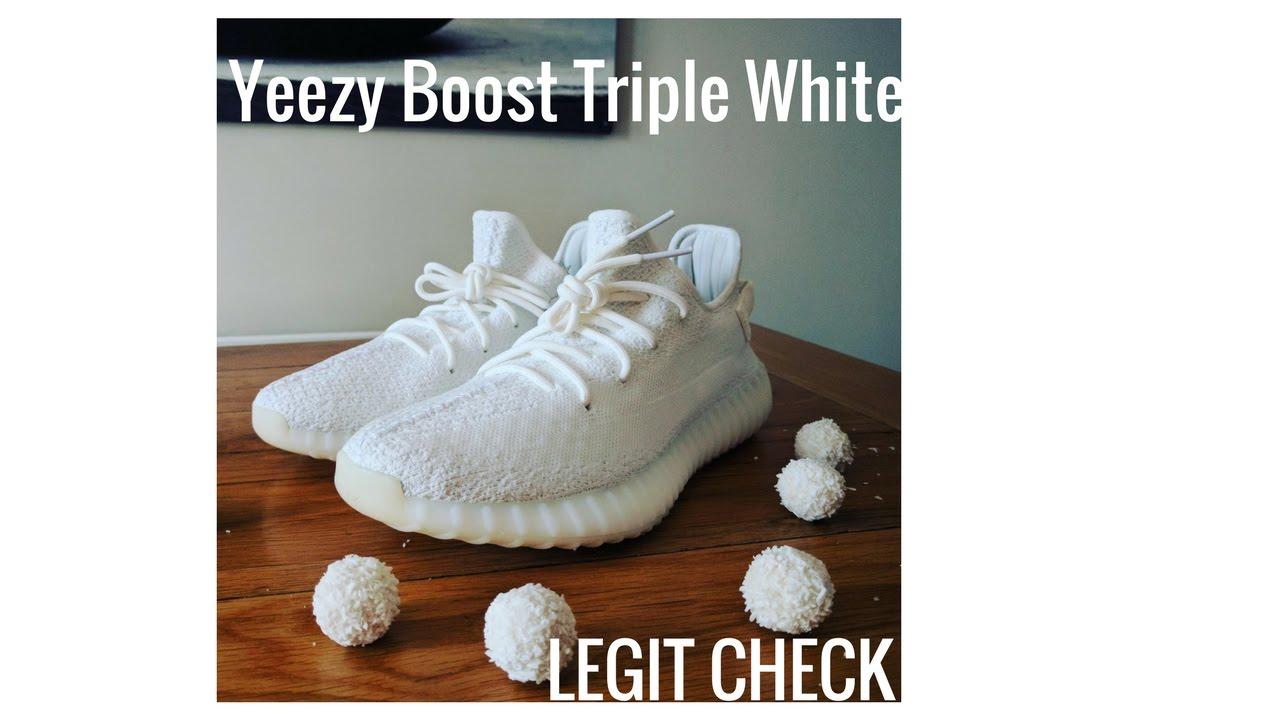 302b95162 Yeezy Boost V2 Triple White Legit Check ! NEW YEEZYS !!! - YouTube