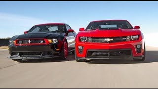 Chevrolet Camaro ZL1 vs Ford Mustang Boss 302 Laguna Seca! - Head 2 Head Episode 3