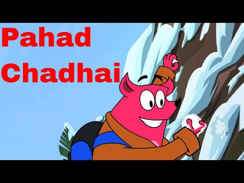 Pyaar Mohabbat Happy Lucky - Ep.21 | Pahad Chadhai | Hindi Animated Cartoon Show | ZeeQ