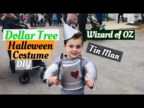 Tin Man DIY DOLLAR TREE Halloween Custom!! Wizard of oz!