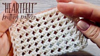 """Вяжем очаровательный УЗОР СПИЦАМИ """"Heartfelt"""" / CHARMING Knitting Pattern"""