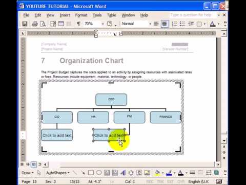 Microsoft Word Tips - How to Create an Org Chart - YouTube