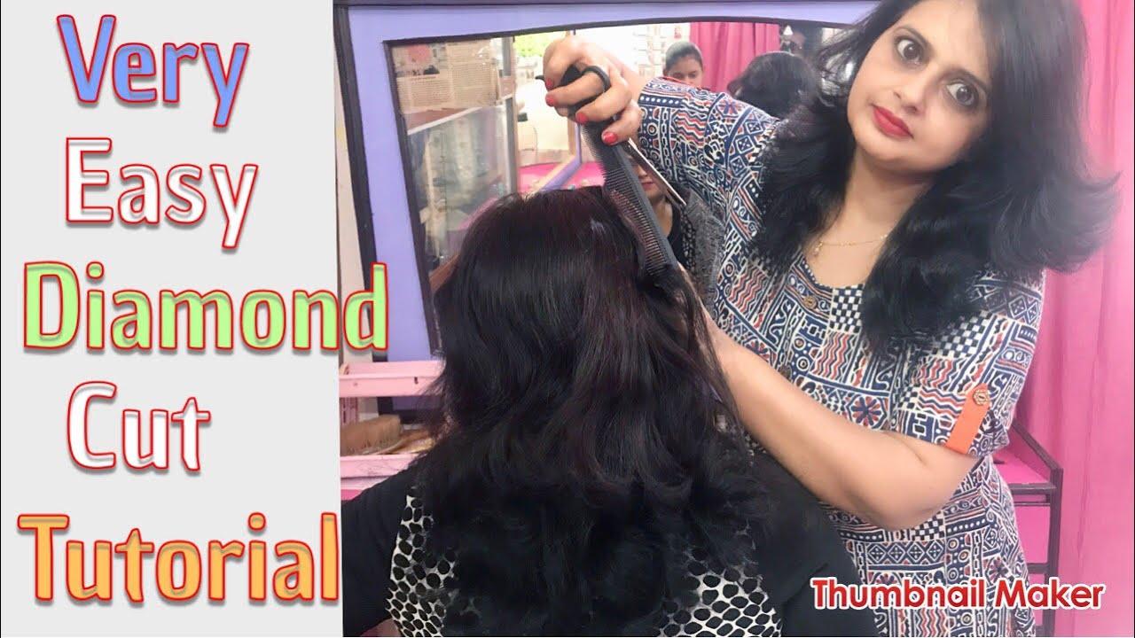 Diamond cut/ Very Easy Diamond Cut Tutorial/Sholder Cut hair cut/Seema  jaitly