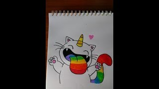 Como dibujar gato kawaii / How to draw kawaii cat