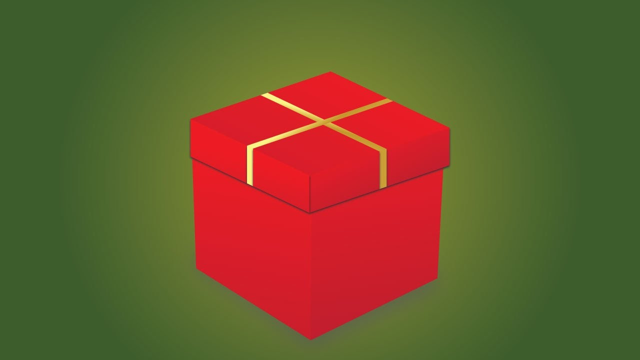 Illustrator Tutorial How To Make 3d Gift Box Youtube