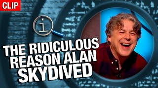 QI | The Ridiculous Reason Alan Skydived