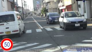 愛知県運転免許試験場 普通二種路上Cコース