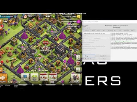 How to use ClashBot 7.11.1.1911 (update April 2016) Clash Of Clans