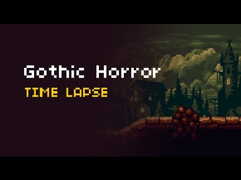 Gothic Horror Environment  Time Lapse  Youtube
