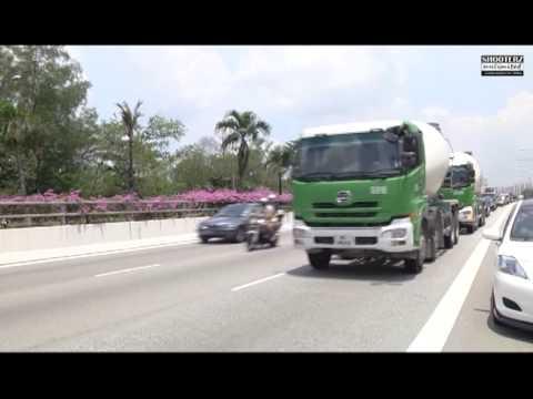 Monster Cement Truck Convoy (Ekel & Alin Wedding)