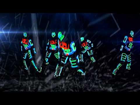 Видео: Крутое неоновое танцевальное световое шоу Киев Dancing light led show