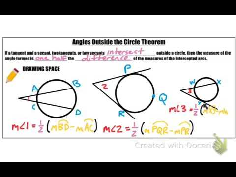 Geometry 9.3   Angles Formed Outside Of A Circle