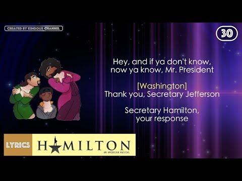 #30 Hamilton - Cabinet Battle #2 (VIDEO LYRICS)